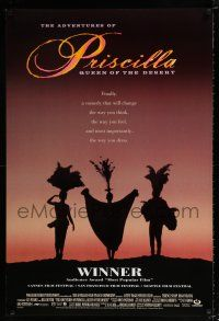 4r018 ADVENTURES OF PRISCILLA QUEEN OF THE DESERT DS 1sh '94 silhouette of Stamp, Weaving, Pearce!