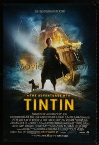 4r020 ADVENTURES OF TINTIN advance DS 1sh '11 Steven Spielberg's version of the Belgian comic!