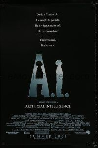4r015 A.I. ARTIFICIAL INTELLIGENCE advance DS 1sh '01 Steven Spielberg, Haley Joel Osment, Jude Law