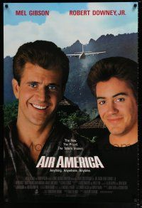 4r026 AIR AMERICA int'l 1sh '90 Mel Gibson & Robert Downey Jr. are flying for the CIA!