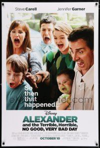 4r028 ALEXANDER & THE TERRIBLE, HORRIBLE, NO GOOD, VERY BAD DAY advance DS 1sh '14 Steve Carell!