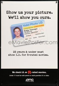 4r039 AMC THEATRES DS special poster '00s show us your picture, we'll show you ours, Bobby Teenager!