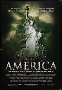 4r041 AMERICA: IMAGINE THE WORLD WITHOUT HER advance DS 1sh '14 Statue of Liberty crumbling!