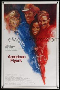 4r043 AMERICAN FLYERS 1sh '85 Kevin Costner, David Grant, bicyclist cycling on bike art by Grove!