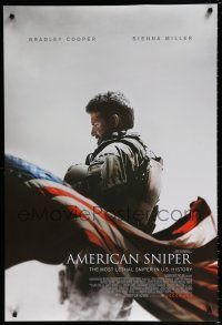 4r044 AMERICAN SNIPER int'l advance DS 1sh '14 Clint Eastwood, Bradley Cooper as legendary Chris Kyle!