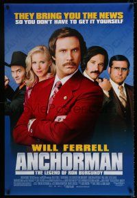 4r047 ANCHORMAN DS 1sh '04 The Legend of Ron Burgundy, image of newscaster Will Ferrell!