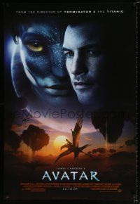 4r059 AVATAR style C advance DS 1sh '09 James Cameron directed, Zoe Saldana, cool image!