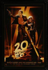 4r008 20TH CENTURY FOX 75TH ANNIVERSARY 27x40 commercial poster '10 Butch Cassidy & Sundance Kid!