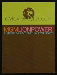 4s011 MGM 1966-67 campaign book '66 2001 A Space Odyssey, Blow-Up, Fearless Vampire Killers +more!