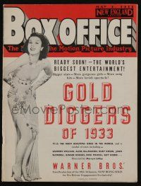 4s037 BOX OFFICE exhibitor magazine May 4, 1933 Warner Bros' Gold Diggers of 1933!