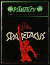 4s049 DAILY VARIETY exhibitor magazine Nov 4, 1959 great different Saul Bass Spartacus cover art!