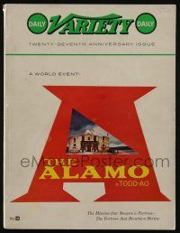 4s050 DAILY VARIETY exhibitor magazine October 25, 1960 Alamo in TODD-AO, 27th Anniversary issue!