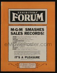 4s021 EXHIBITORS FORUM exhibitor magazine December 8, 1928 MGM smashes sales records!