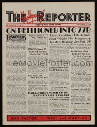 4s053 HOLLYWOOD REPORTER exhibitor magazine February 11, 1938 w/8-page insert for Everybody Sing!