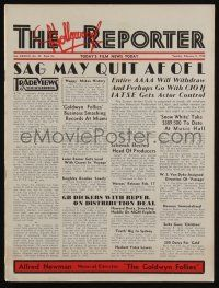 4s052 HOLLYWOOD REPORTER exhibitor magazine February 8, 1938 w/28-page insert for Goldwyn Follies!