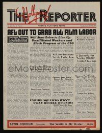 4s057 HOLLYWOOD REPORTER exhibitor magazine Sep 10, 1940 w/5-page insert for RKO's Lucky Partners!
