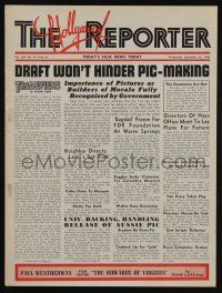 4s058 HOLLYWOOD REPORTER exhibitor magazine Sep 25, 1940 w/2pg Kapralik ad for Strike Up the Band!