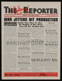 4s054 HOLLYWOOD REPORTER exhibitor magazine Sep 28, 1938 w/5-page insert for Too Hot to Handle!