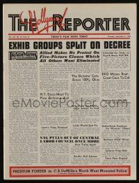 4s056 HOLLYWOOD REPORTER exhibitor magazine Sep 5, 1940 w/16-page insert about MGM 16th birthday!