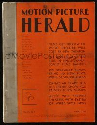 4s043 MOTION PICTURE HERALD exhibitor magazine Aug 2, 1941 Ronald Colman in My Life with Caroline