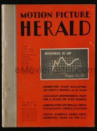4s044 MOTION PICTURE HERALD exhibitor magazine March 14, 1942 Male Animal, theater defense shows!