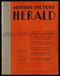 4s041 MOTION PICTURE HERALD exhibitor magazine May 13, 1939 Juarez, The Gorilla, Goodbye Mr. Chips