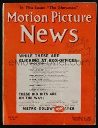 4s047 MOTION PICTURE NEWS exhibitor magazine Dec 2, 1927 Clara Bow in Get Your Man, Night Life!