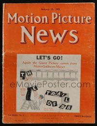 4s048 MOTION PICTURE NEWS exhibitor magazine January 26, 1929 Wolf of Wall Street, Godless Girl!