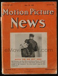 4s002 MOTION PICTURE NEWS exhibitor magazine Jun 22, 1929 contains Universal 1929-30 campaign book