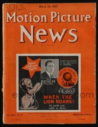 4s045 MOTION PICTURE NEWS exhibitor magazine Mar 25, 1927 Clara Bow, Colleen Moore, John Barrymore