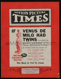4s026 MOTION PICTURE TIMES exhibitor magazine November 30, 1929 MGM's best is yet to come!