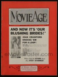 4s028 MOVIE AGE exhibitor magazine August 12, 1930 Joan Crawford in Our Blushing Brides!