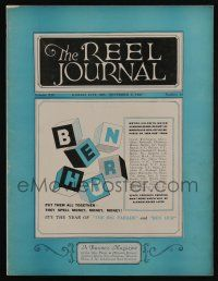 4s031 REEL JOURNAL exhibitor magazine November 5, 1927 the year of Ben Hur & The Big Parade!