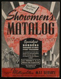 4s018 SHOWMEN'S MATALOG exhibitor's trade catalog '30s specialized border layouts for newspapers!