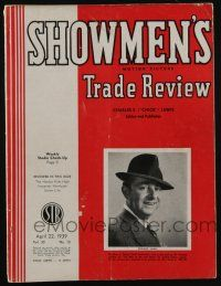 4s034 SHOWMEN'S TRADE REVIEW exhibitor magazine April 22, 1939 Union Pacific, Hardys Ride High!