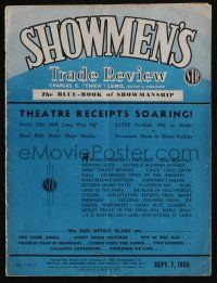 4s033 SHOWMEN'S TRADE REVIEW exhibitor magazine September 7, 1935 articles & ads on current movies