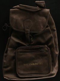 4s067 BIG LEBOWSKI 12x17 leather backpack '98 you can carry all your stuff around in it!