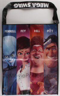 4s076 MEGAMIND 25x30 swag bag '10 great images of the top four super hero cartoon characters!