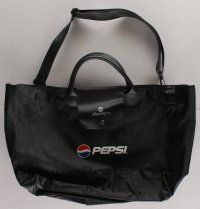 4s073 PEPSI white 14x23 duffel bag '00 from the ShoWest Convention!
