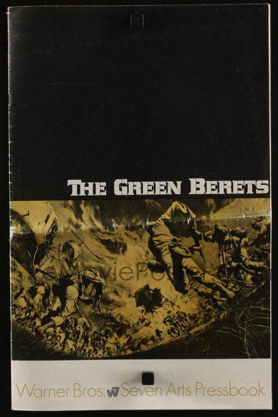 eMoviePoster com: 4s488 GREEN BERETS pressbook '68 John