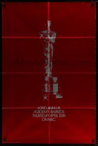 4t011 43RD ANNUAL ACADEMY AWARDS foil 1sh '71 wonderful image of the Oscar statue!