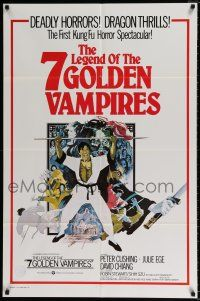 4t015 7 BROTHERS MEET DRACULA int'l 1sh '79 The Legend of the 7 Golden Vampires, different art!