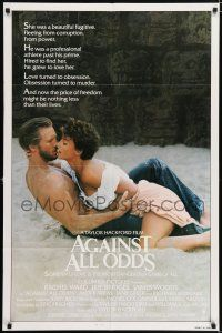4t017 AGAINST ALL ODDS int'l 1sh '84 Jeff Bridges makes out with Rachel Ward on the beach!