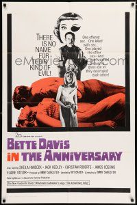 4t038 ANNIVERSARY int'l 1sh '67 Bette Davis with funky eyepatch in English horror!