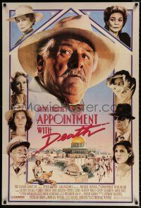 4t041 APPOINTMENT WITH DEATH 1sh '88 Agatha Christie, Carrie Fisher, Peter Ustinov!