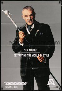 4t052 AVENGERS teaser 1sh '98 Sean Connery as Sir August - destroying the world in style!