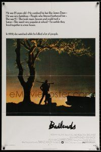 4t056 BADLANDS 1sh '74 Terence Malick's cult classic, Martin Sheen & Sissy Spacek!