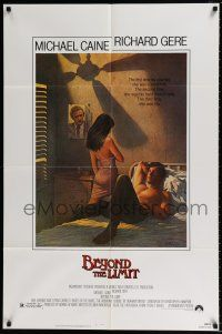 4t068 BEYOND THE LIMIT 1sh '83 art of Michael Caine, Richard Gere & sexy girl by Richard Amsel!