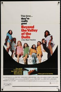 4t069 BEYOND THE VALLEY OF THE DOLLS 1sh '70 Russ Meyer's girls who are old at twenty!