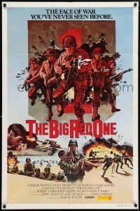 4t074 BIG RED ONE int'l 1sh '80 directed by Samuel Fuller, Lee Marvin, Mark Hamill in WWII!